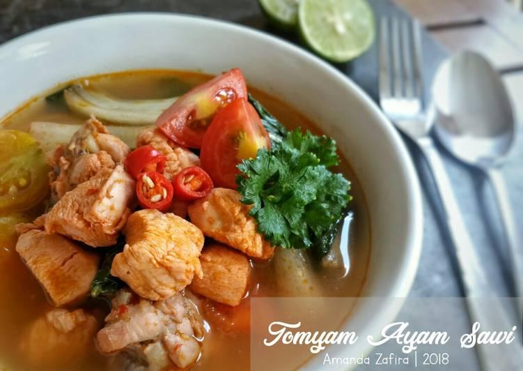 Resep Tomyam Ayam Sawi
