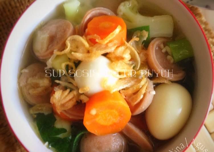 Resep Sup Sosis Telur Puyuh