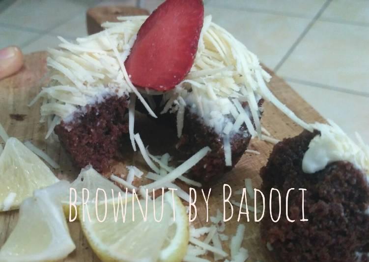 Resep Brownut eggless no mixer bisa dikukus atau di oven
