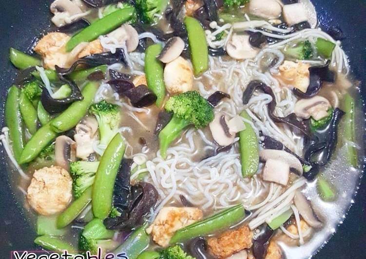 Resep Vegetables Oriental Stew (Sop Sayuran Oriental)