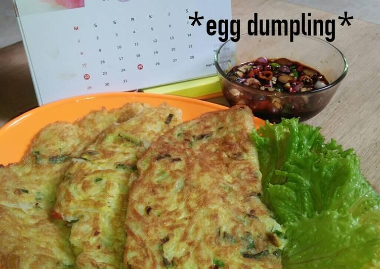 Resep *egg dumpling*