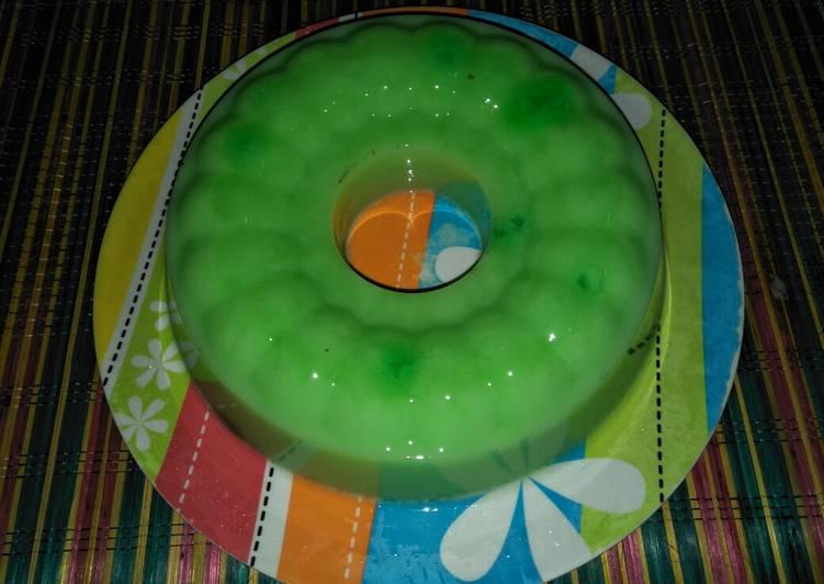 Resep Puding Susu Melon #BikinRamadhanBerkesan