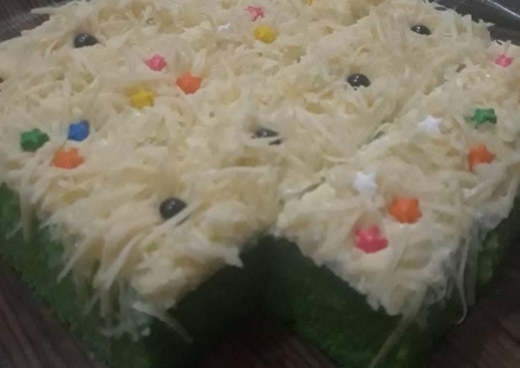 Resep Brownies pandan keju