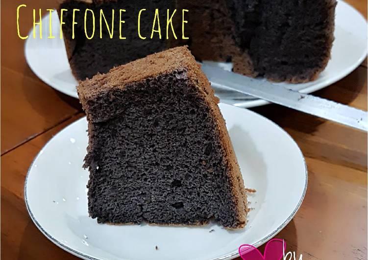 Resep Chiffone cake ketan hitam