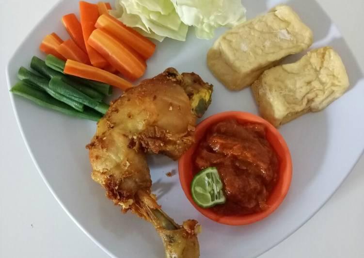 Resep Ayam goreng lalapan