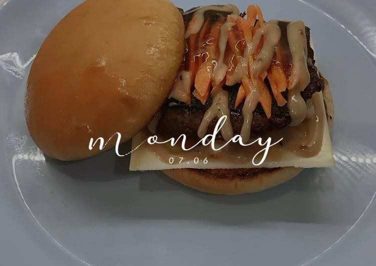 Resep Burger japanese of taste