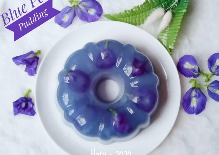 Resep Blue Pea Puding / Puding Bunga Telang