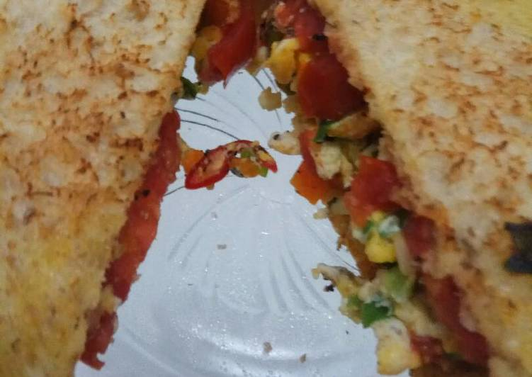 Resep Toast and scrambled egg