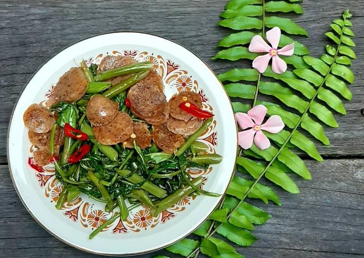 Resep Tumis Kangkung Bakso (Vegan)