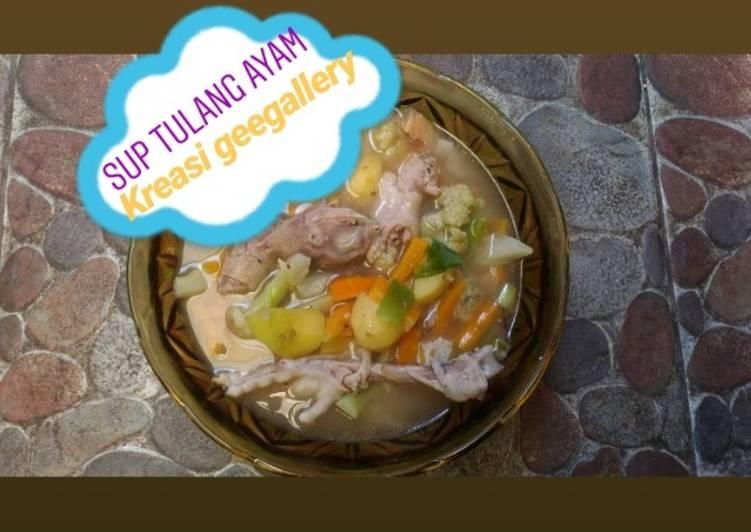 Resep Sup tulang Ayam kampung