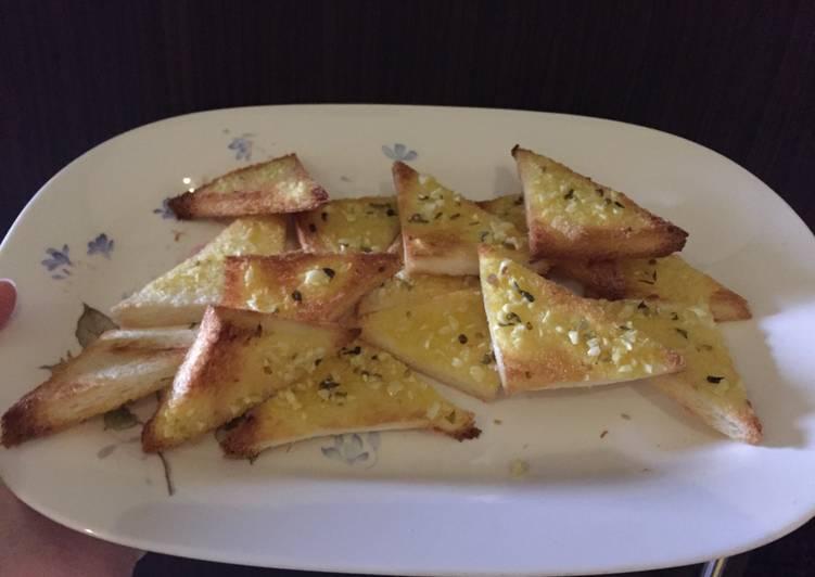 Resep Simple Garlic Bread