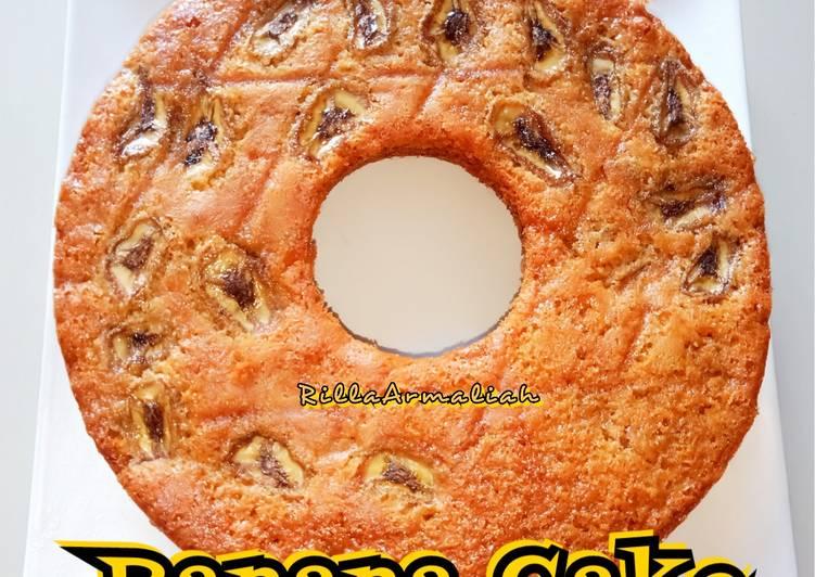 Resep Banana Cake loyang Tulban 24