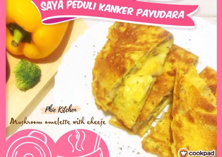 Resep Mushroom omelette with cheese