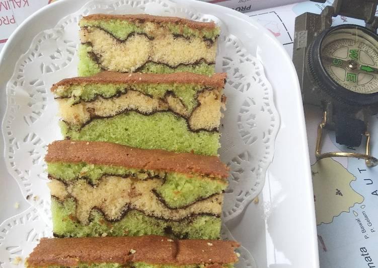 Resep Topo Cake (Topografi Map Love Cake)