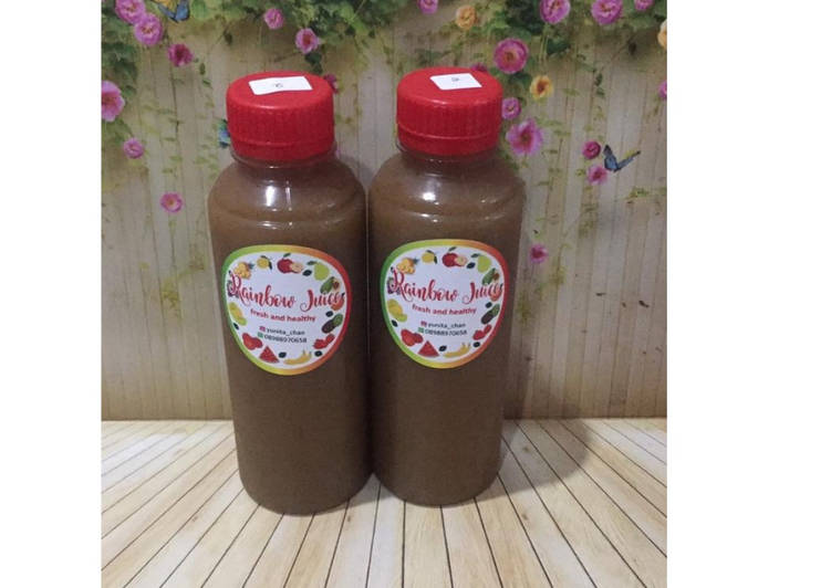 Resep Diet Juice Strawberry Spinach Red Radish Passion Fruit
