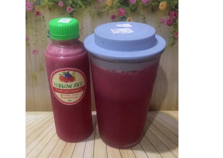 Resep Diet Juice Lemon Guava Purple Cabbage Raspberry