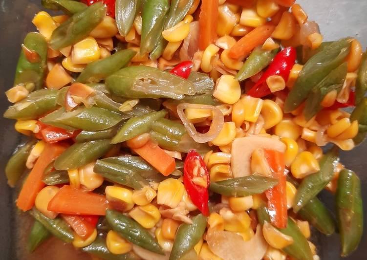 Resep Tumis buncis wortel jagung manis