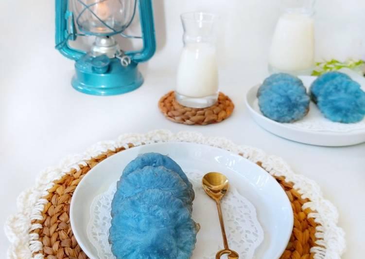 Resep Kue Cucur air kelapa& bunga telang