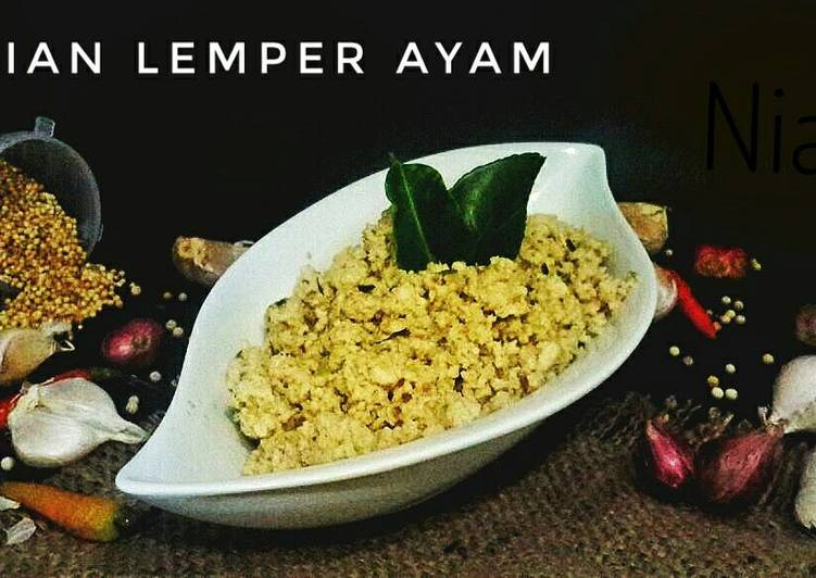 Resep Isian Lemper Ayam gampang