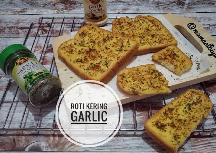 Resep 1Roti Tawar Kering Garlic