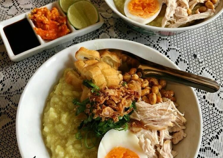 Resep Bubur Ayam Rasa Soto