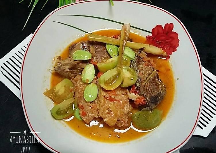 Resep Ikan Tuna super pedess kuah santan ^postingrame2_ikan^