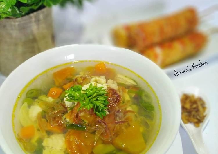 Resep Chicken Soup Express