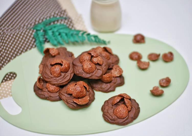 Resep Koko Krunch Cookies / Cokelat Crunch Cookies