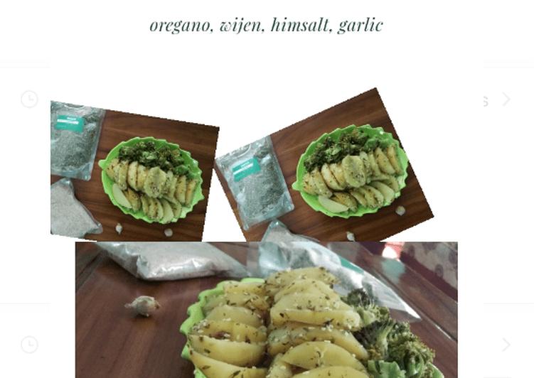 Resep Wedges potato,brocoli kukus