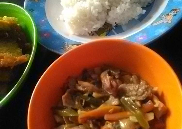Resep Oseng sayur ayam cincang