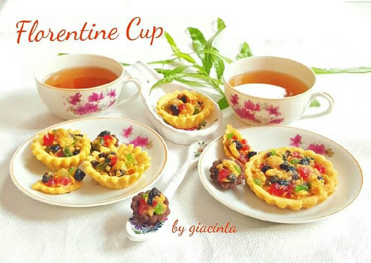 Resep Kue kering ceria penuh warna (Florentine Cup)