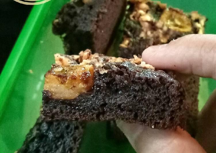 Resep Brownies Pisang yang moist dan lembut