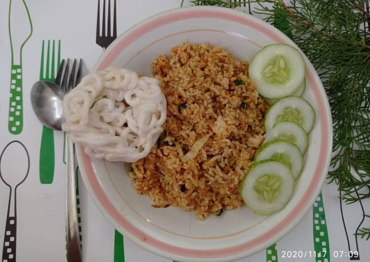 Resep Nasi goreng bumbu rendang