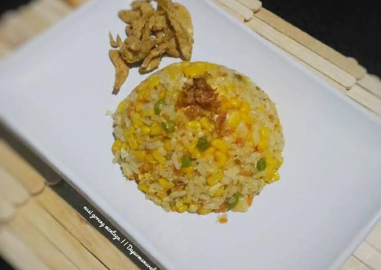 Resep Nasi goreng mentega #menuanak