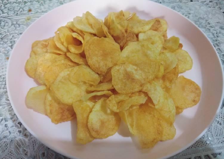 Resep Kripik kentang kres gurih
