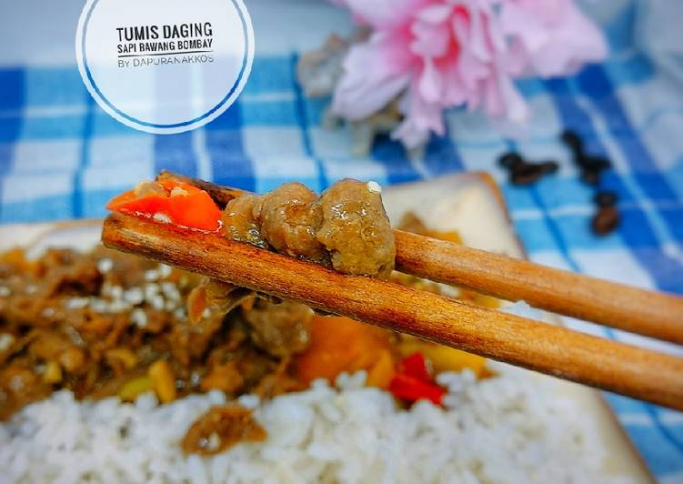 Resep Tumis daging sapi bawang bombay