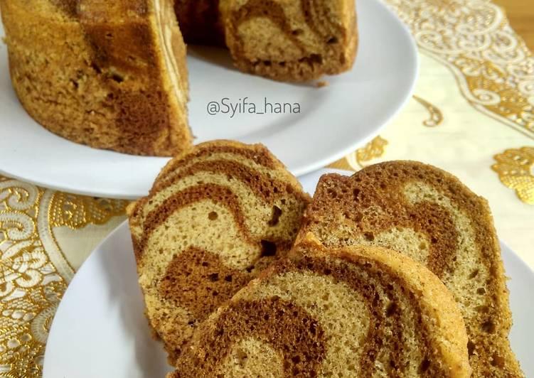 Resep Cake Pisang Marble Kukus