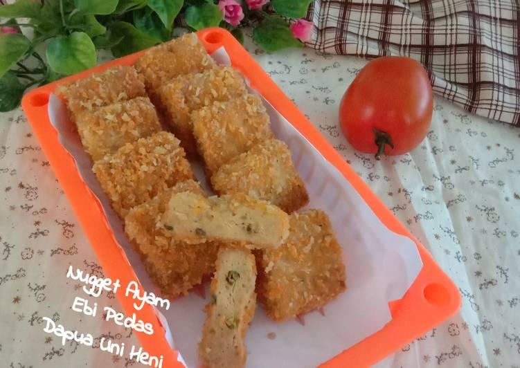 Resep Nugget ayam ebi pedas