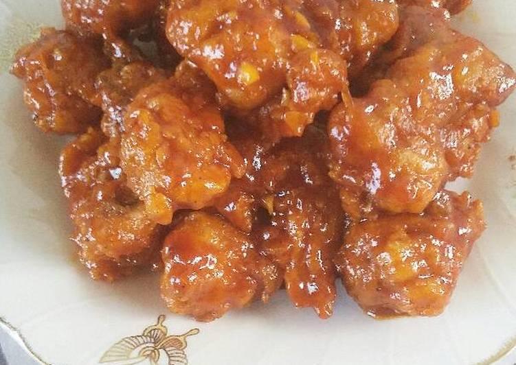 Resep Honey Glazed Fried Chicken aka Ayam Goreng Saus Madu