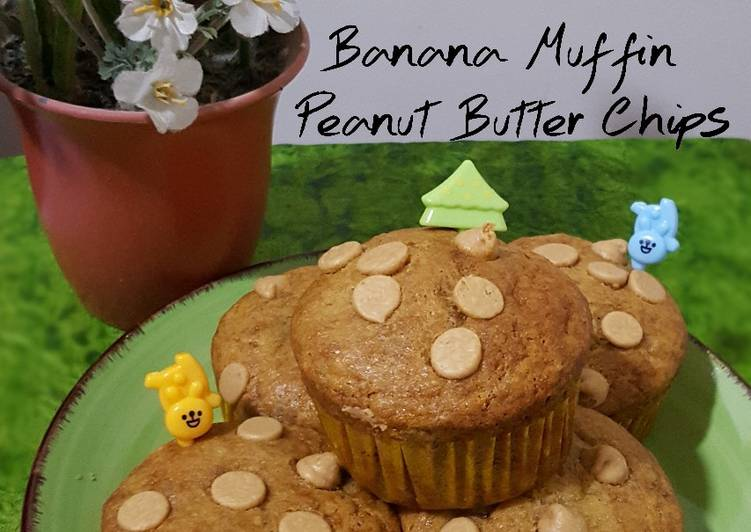 Resep Banana Muffin Peanut Butter Chips