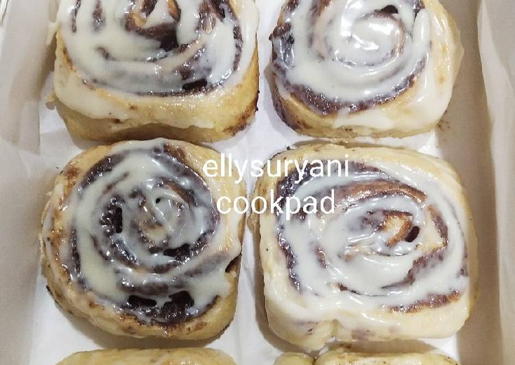 Resep Cinnamon Roll Homemade With Frosting ala Merry Booster Yummy dan Mantap Nian