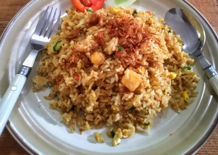 Resep Nasi goreng ikan asin jambal