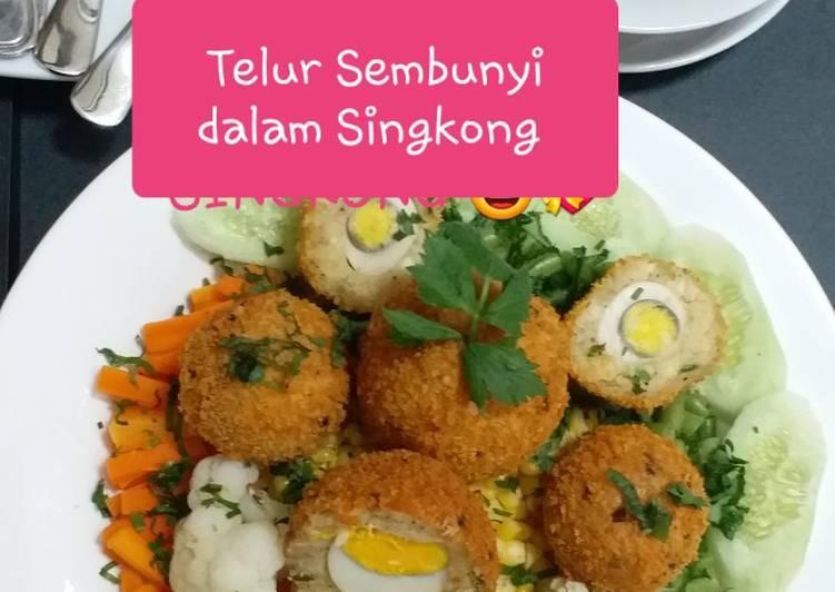 Resep Telur Sembunyi dalam Singkong