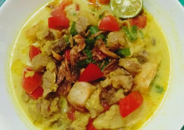 Resep Soto Daging Madura Kuah Santan