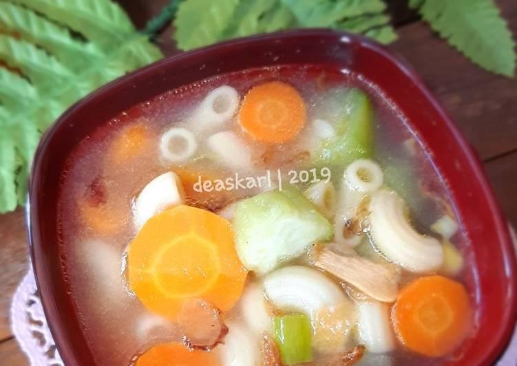 Resep Sop makaroni oyong wortel