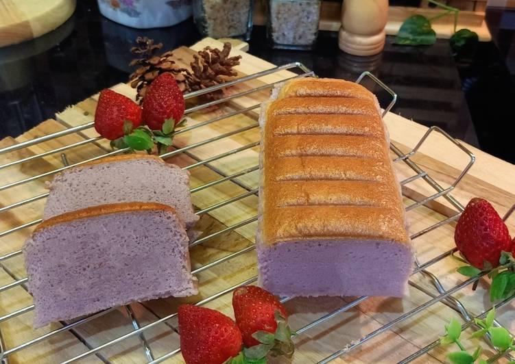 Resep Ogura cake Taro