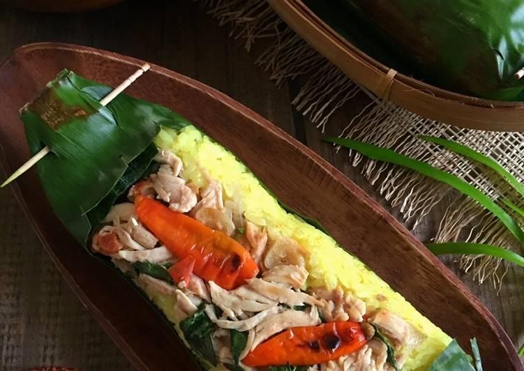 Resep Nasi Kuning Bakar Ayam