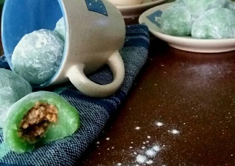 Resep Kue Mochi Isi Kacang Tanah, Kenyal Enak !