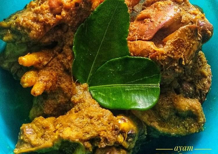 Resep Ayam ungkep bumbu lengkuas