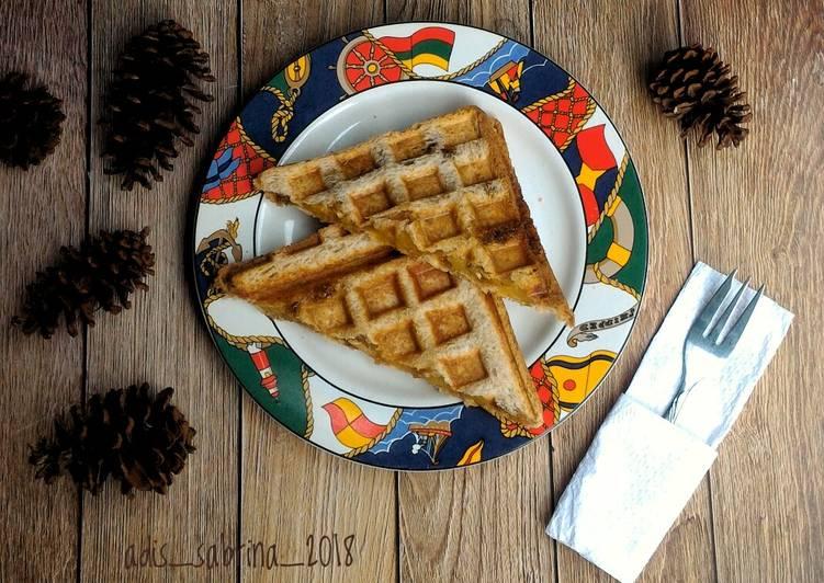 Resep Waffle roti gandum #bandung_recooklenidenyra